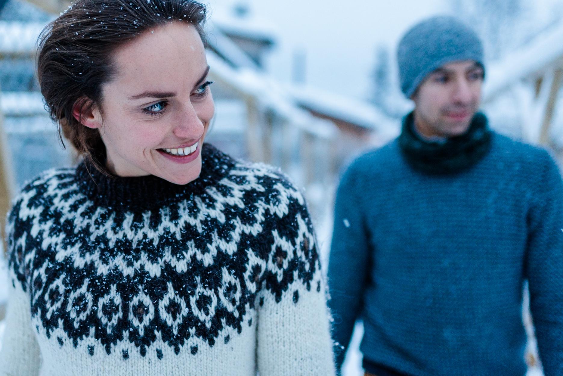 Svenja und Ben Fotografie Hochzeitsfotos Göttingen - Reise Dreh Fotos schwedisch Lappland Polarkreis Huskies Eis Schnee Schlittenhunde